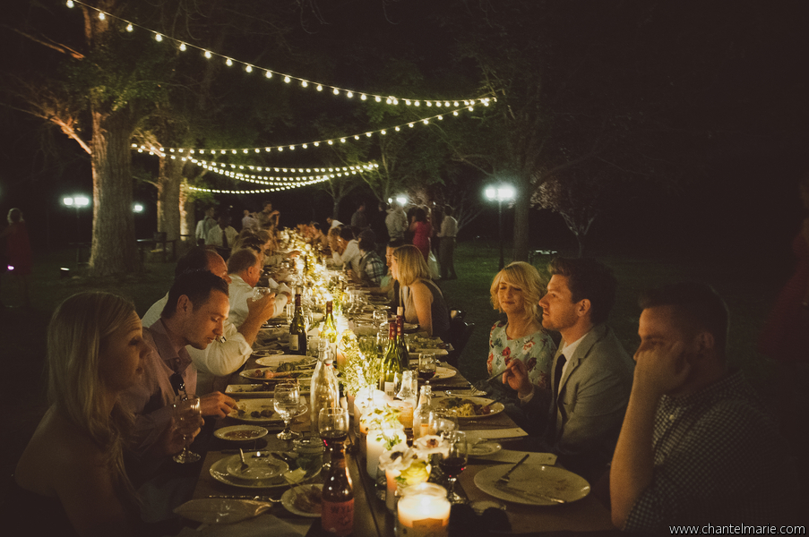 outdoor wedding reception in Las Vegas