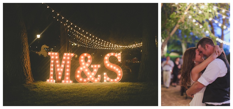country wedding marquee letters