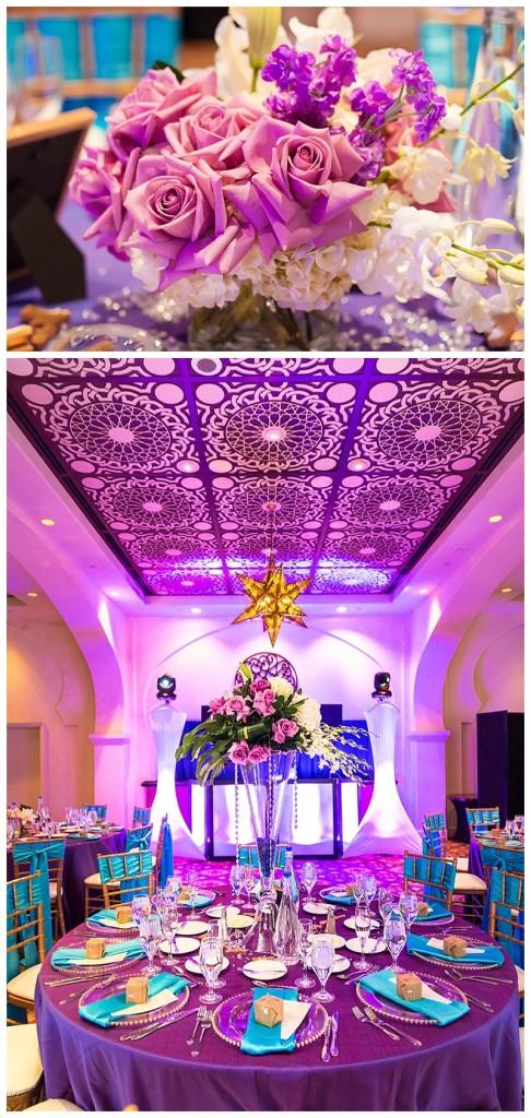 Blue and Purple Wedding