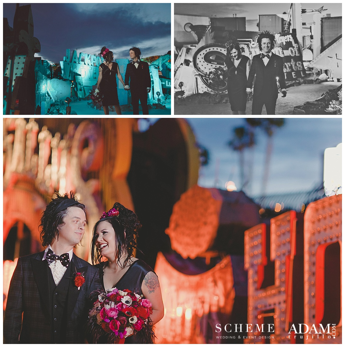 View More: http:Neon Museum Vow Renewal//adamtrujillo.pass.us/armstrongwedding